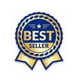 award ribbon best seller vector image vector image