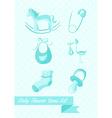 bashower boy icons set design vector image