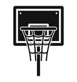 basketball board icon simple style vector image vector image