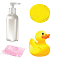 Bathroom items vector image vector image