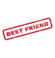 Best Friend Text Rubber Stamp vector image vector image