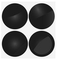 black circle banners vector image vector image