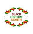 black history month design for banner print vector image vector image