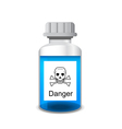 Bottle with colored toxic solution vector image vector image