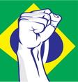Brazil fist vector image vector image