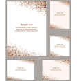Brown page corner design template vector image vector image