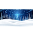 Christmas background with magic tree vector image vector image