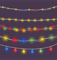 christmas colored lights vector image vector image