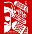 christmas party invitation or poster design vector image vector image
