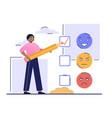 client satisfaction survey concept vector image