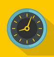 clock icon flat style vector image vector image