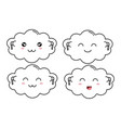 cloud character set listening to vector image vector image