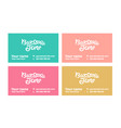 concept of business card vector image