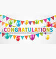 congratulations design template background vector image