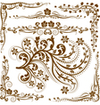 Corners and ornaments vector image