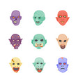 creepy characters flat icons vector image