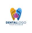 dental clinic logo template design vector image