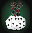 dices and poker design vector image