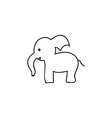 Doodle elephant animal icon