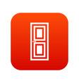 door icon digital red vector image vector image