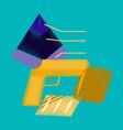 flat shading style icon economic pyramid vector image vector image