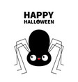 happy halloween black spider silhouette cute vector image vector image