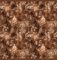 hexagonal brown camouflage seamless patttern vector image vector image