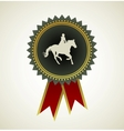 Horse symbol award rosette vector image vector image