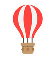 hot air balloon flat icon transport and air vector image