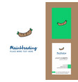 hot dog creative logo and business card vertical vector image