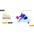 hotel hospitality service website landing page vector image vector image