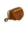 hunter leather bag cartoon icon vector image