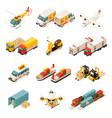 isometric transportation elements set