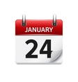 January 24 flat daily calendar icon Date vector image vector image