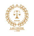 law firm office center logo design vector image vector image