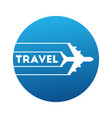 logo travels by airplane vector image