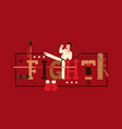 martial arts typography poster karate fighter vector image