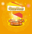 Modern elegant diwali design with candle with