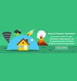 natural disaster insurance banner horizontal vector image