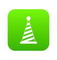 party hat icon digital green vector image