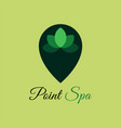 point spa logo template design point spa vector image