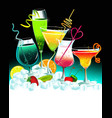 set drinks vector image