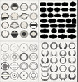 set empty retro vintage frames laurels badges vector image vector image