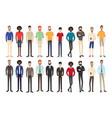 set of working people standing vector image