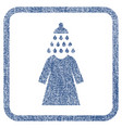 shower wash female dress fabric textured icon vector image vector image