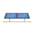 solar panel green energy alternative power flat vector image