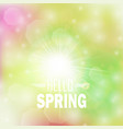spring bright bokeh background vector image vector image