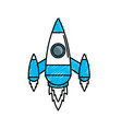 technology rocket design to explore the galaxy vector image