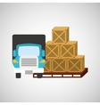 transportation delivery package vector image vector image