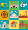 travel places in india vector image vector image